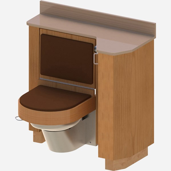 37 Quot Wide Wood Frame Cabinet Fixed Toilet With Bed Side