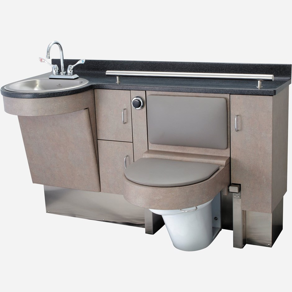 58 875 Quot Wide Stainless Steel Frame Cabinet Fixed Toilet